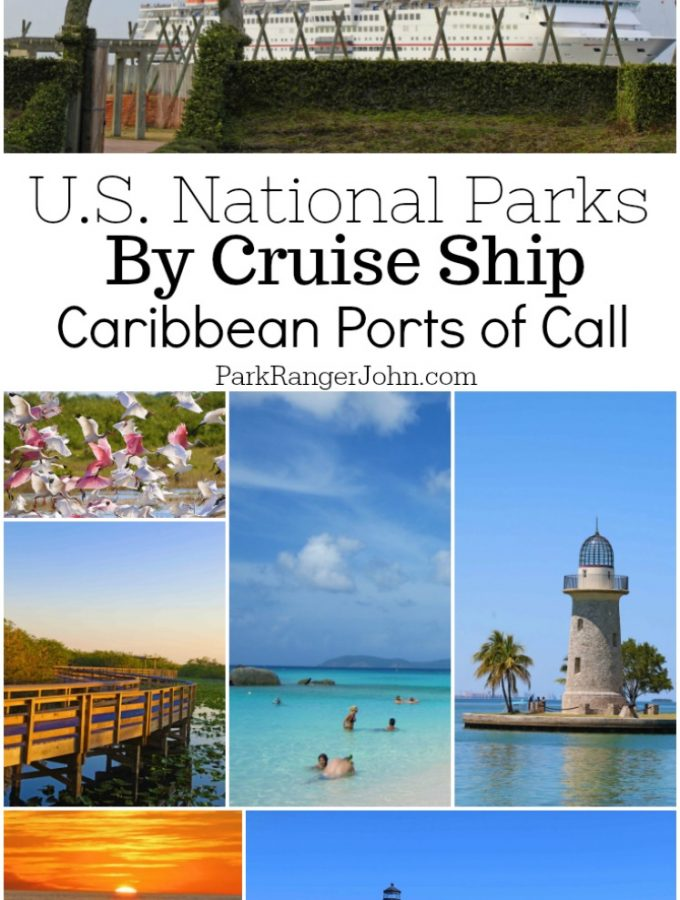Cruising to America's National Parks- Caribbean Ports of Call. Start planning a Caribbean Cruise while also visiting some of America's best National Parks including Everglades National Park, Dry Tortugas National Park, Biscayne National Park, Canaveral National Seashore and many more #caribbeantravel #cruisetravel #nationalparks #floridanationalparks