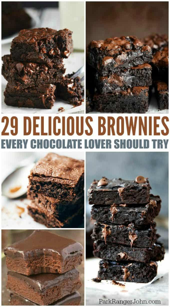 29 Chocolate Lover Brownies Recipes you will love! Easy homemade from scratch recipes and boxed recipes!