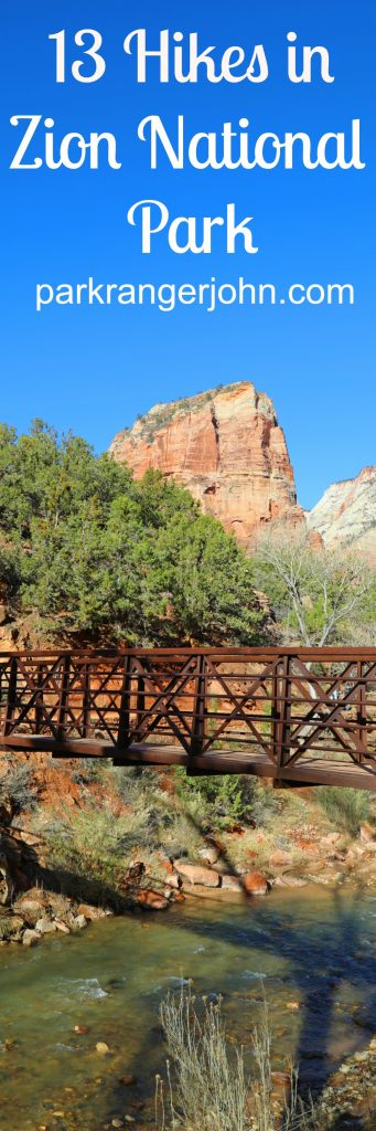 13 Hikes in Zion National Park in Utah including Angels Landing, The Narrows, and Emerald Pools! Both backpacking hikes and day hikes, hikes with kids, Weeping Rock and more