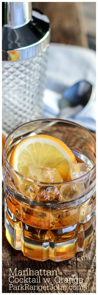 Classic Manhattan Cocktail Recipe with an Orange Twist that is perfect for happy hour, dinner parties, bachelor parties or guys night.