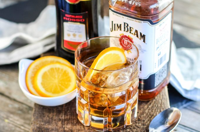 Classic Manhattan Cocktail Recipe with an Orange Twist