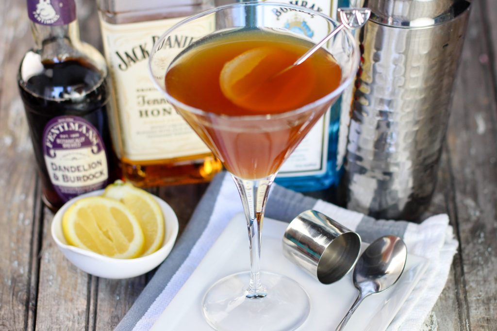 The Dirty Sweet Gimlet Recipe is a great twist on the classic gimlet. A great summer drink or party drink.