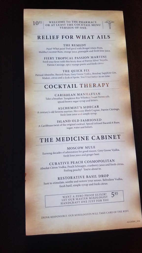 Caribbean Manhattan Cocktail Recipe from the Alchemy Bar on Carnival Cruises
