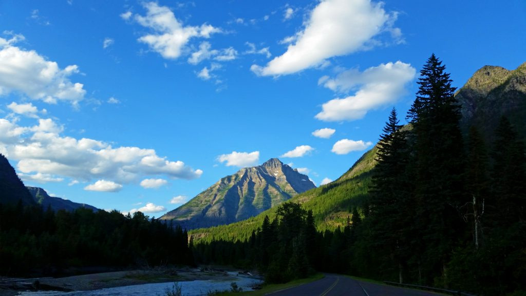 Driving in Glacier National Park