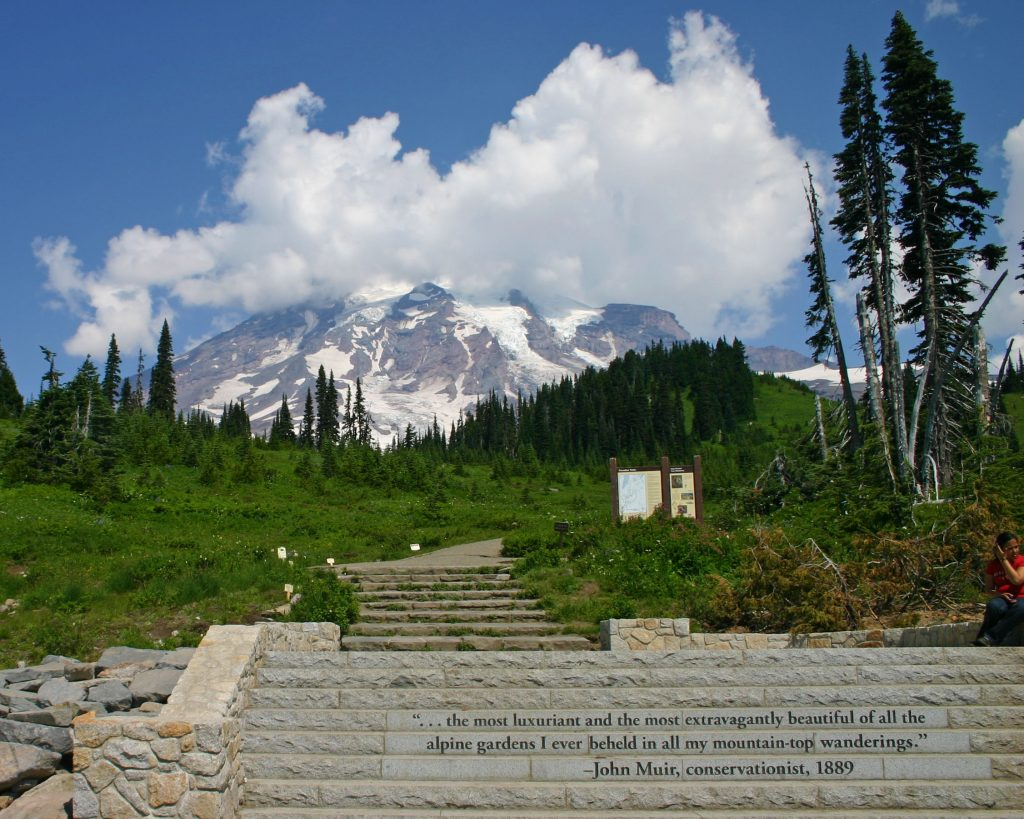 John Muir Quote at Mount Rainier National Park