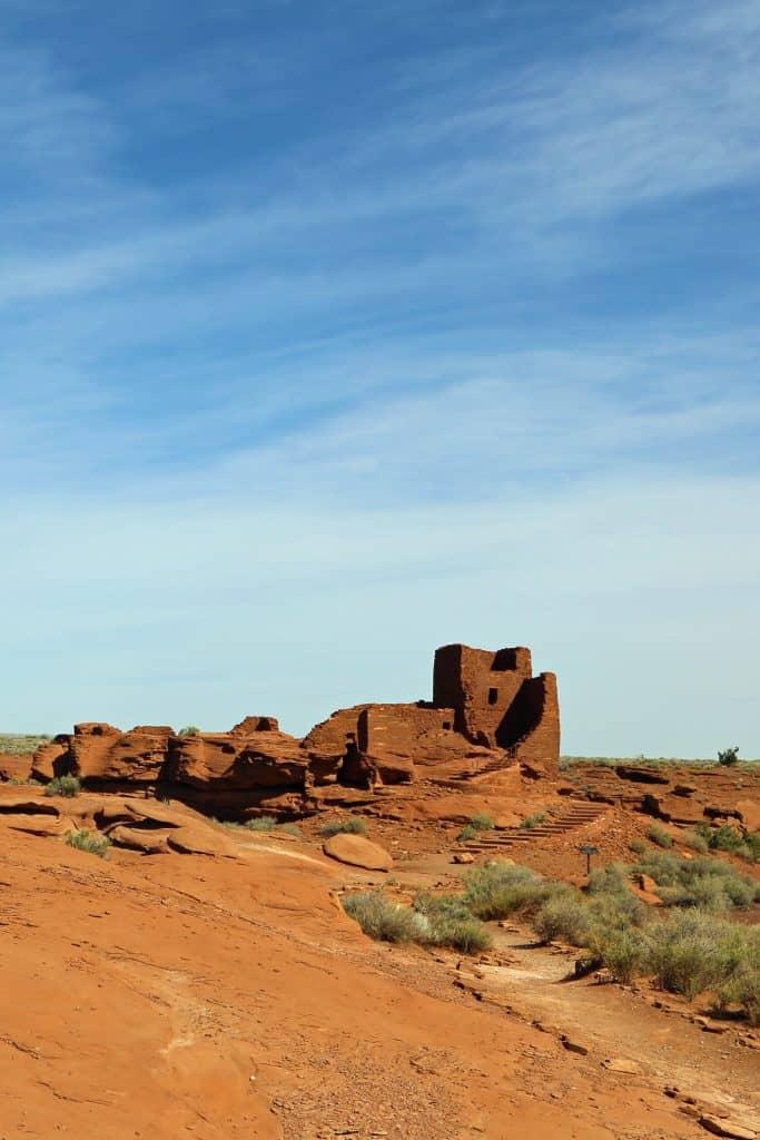 Wukoki Pueblo at Wupatki National Monument Arizona