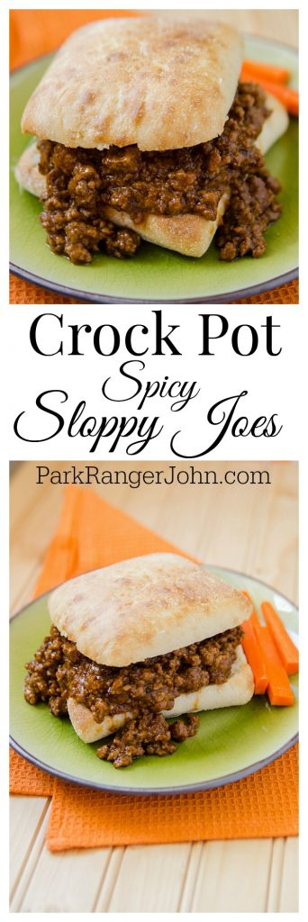 Slow Cooker Crock Pot Spicy Sloppy Joes Recipe! The perfect <a href=
