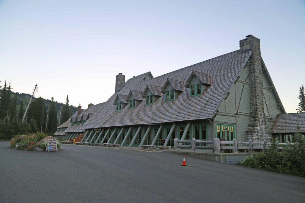 Paradise Inn at Mt Rainier National Park in Washington State gives you the ultimate bucket list Northwest Lodge Experience! Enjoy your stay in the Rustic Style architecture the National Park Service is best known for and the lodge has been classified as a National Historic Landmark and listed on the National Register of Historic Places