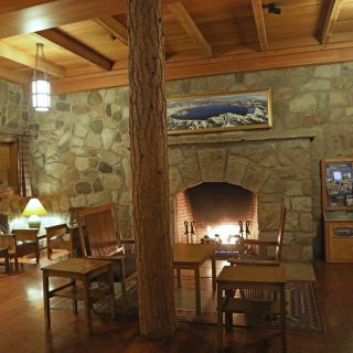 Crater Lake Lodge is located on the Rim of Crater Lake National Park in southern Oregon. It is one of the Historic Hotels of America under the National Trust for Historic Preservation. The Hotel is closed in the winter but you can expect to see snow before it closes in October.