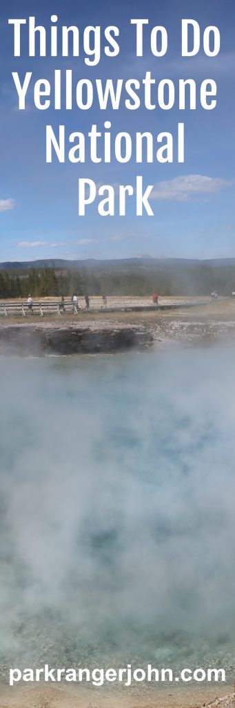 Things to do Yellowstone National Park. Tips for planning your vacation at this bucket list destination including hiking,wildlife viewing, seeing hot springs, geysers and local parks like Grand Teron and the John D Rockefeller Jr. Memorial Parkway