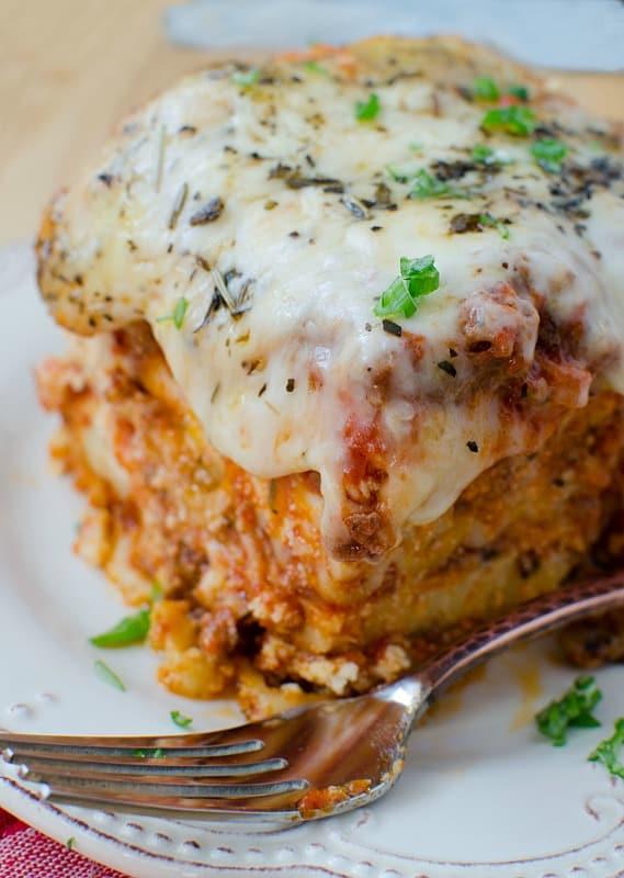 Easy Slow Cooker Crock Pot Beef Lasagna Recipe