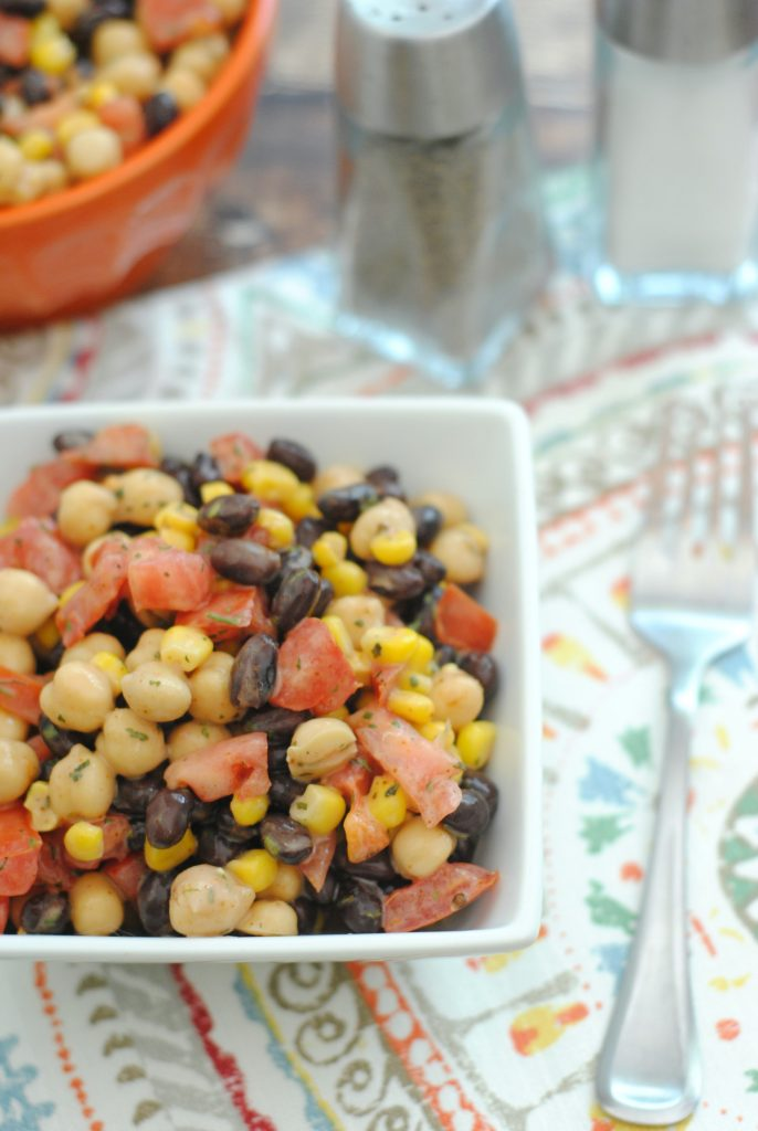 This Southwest Black Bean and Corn Salad Recipe is easy & simple to make. It has several fresh ingredients like cilantro, lime juice and Olive Oil. #southwest #bean #salad #recipe