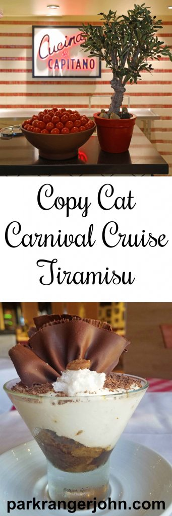 Copy Cat Carnival Cruise Line Tiramisu Recipe! It's simply the best authentic/classic Tiramisu recipe there is! There is even step by step directions to make this traditional Italian dessert.