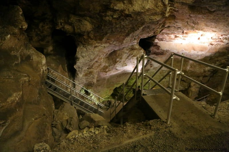 stairs through jewel cave national monument