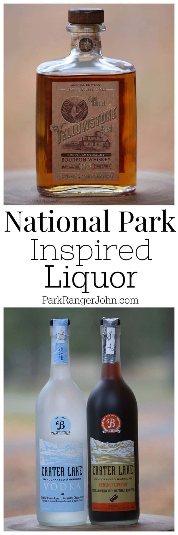 Spirits inspired by the U.S. National Parks make great gifts. You can also take them home to put into your collection or to show off their beautiful labels and bottles on a centerpiece. You can also learn how to make your favorite alcoholic beverages while bringing back memories of your favorite parks! #spirits #cocktails #whiskey #vodka