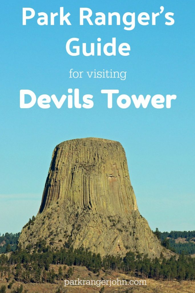 Park Rangers Guide to Devils Tower National Monument in Wyoming USA. Article includes travel tips and things to do like climbing, hiking, road trip ideas and even Close Encounters of a 3rd. Kind! #devilstower #devilstowernationalmonument #nps #nationalpark
