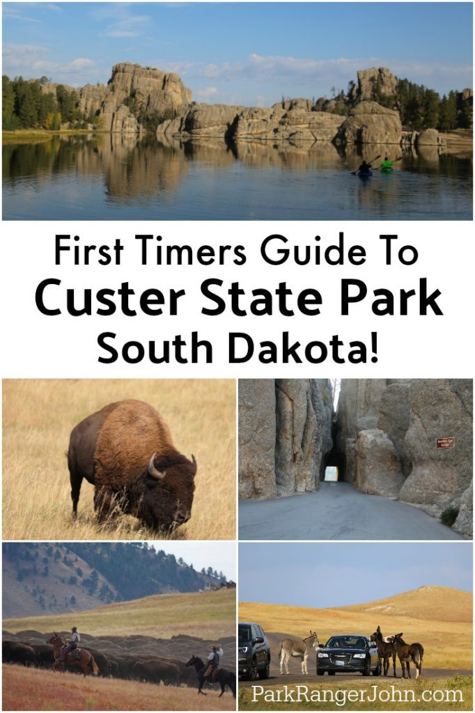 Things to do Custer State Park in South Dakota include hiking, exploring Sylvan Lake, camping, staying in a cabin or one of the several park lodges, taking the wildlife loop and driving the needles highway #custerstatepark #wildlifeloop #southdakota #sylvanlake #buffalo