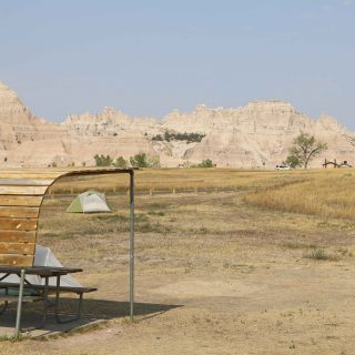 Badlands National Park Campgrounds Camping in South Dakota. Camping is a great way to travel and explore the badlands on the All-American mid-west road trip! #badlands #camping #nationalpark #roadtrip