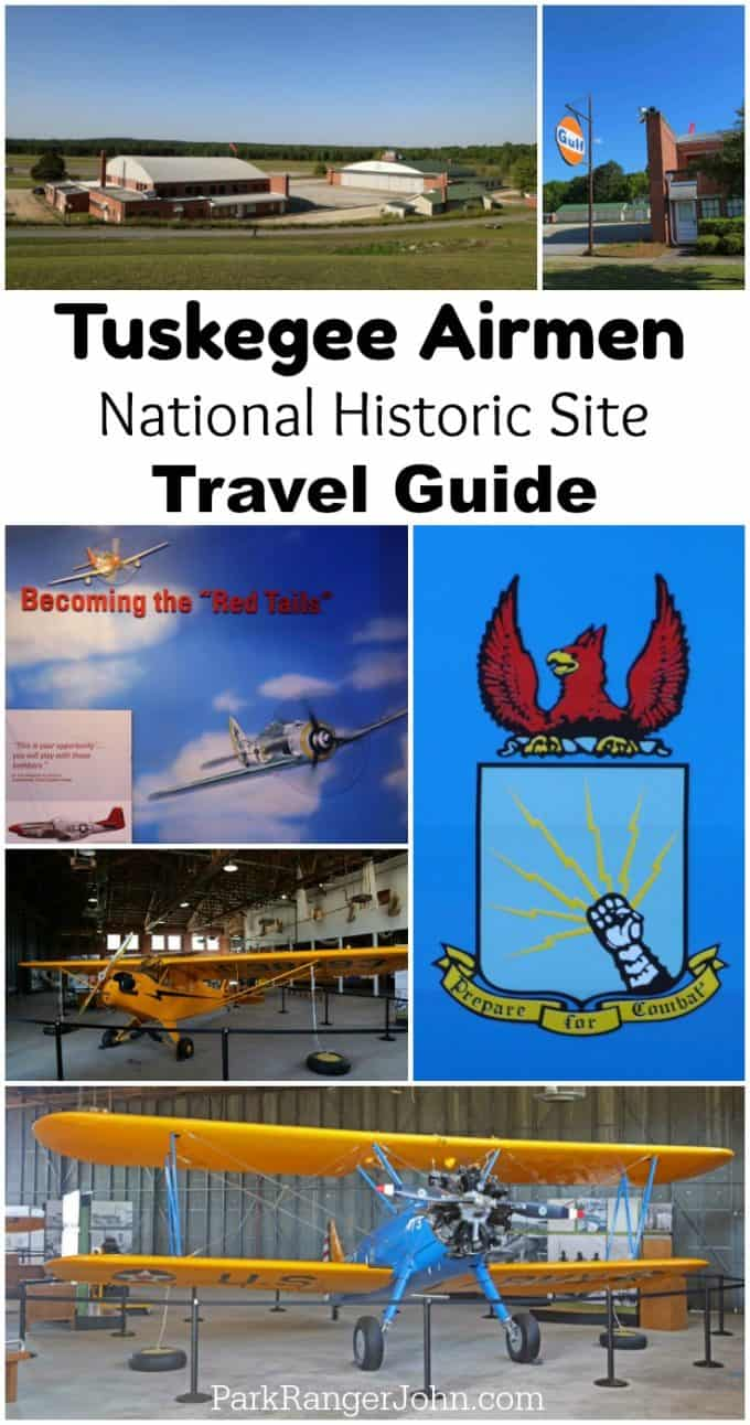 Travel Guide for visiting Tuskegee Airmen National Historic Site near Auburn Alabama at historic Moton Field. #TuskegeeAirmen #Motonfield #alabama #nationalhistoricsite #nps