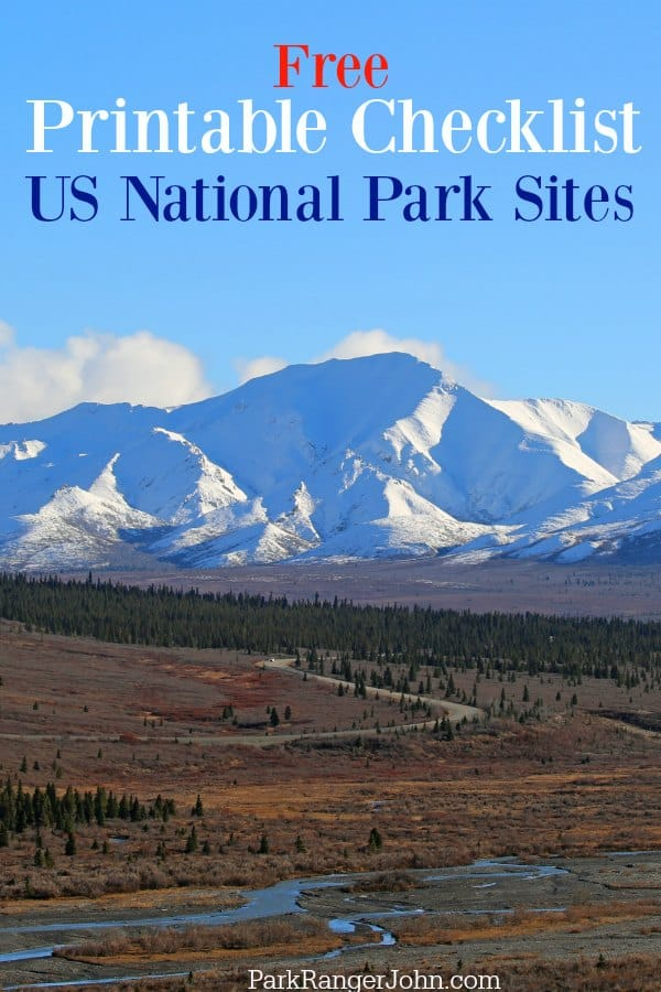 Printable List Of National Parks Sites In The United States