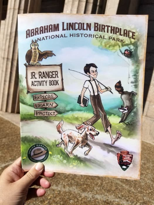 Abraham Lincoln National Historical Park junior ranger booklet