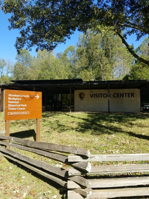 Abraham Lincoln National Historical Park visitor center and sign