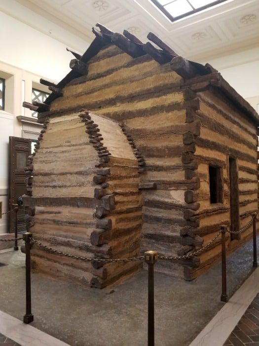 Abraham Lincoln National Historical Park replica log cabin