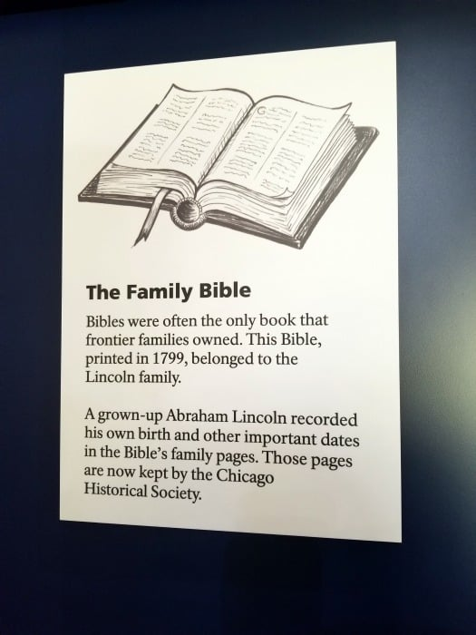 Abraham Lincoln National Historical Park the family bible information