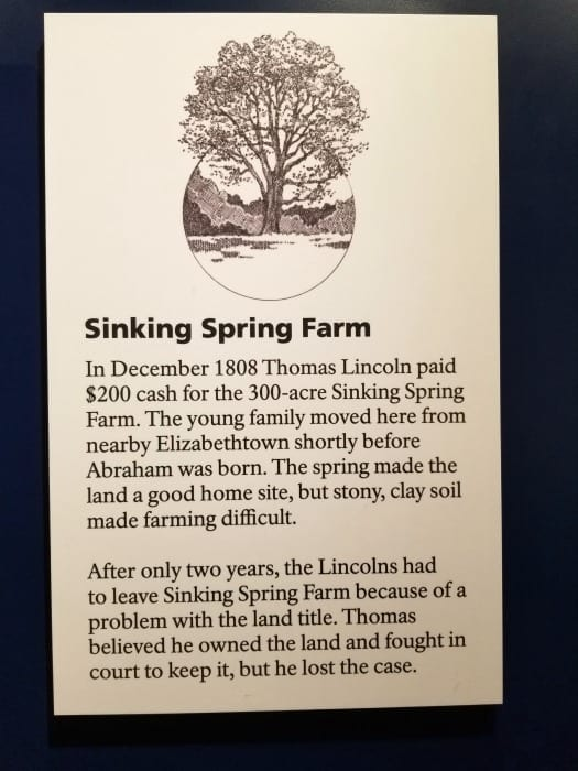 Abraham Lincoln National Historical Park Sinking Spring Farm information
