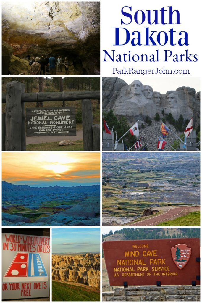 Collage of photos from South Dakota National Parks