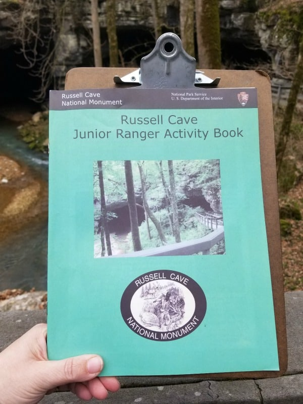 Russell Cave Junior Ranger Book