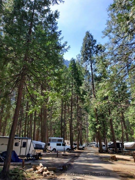 Upper Pines Campground - Yosemite National Park   Park ...