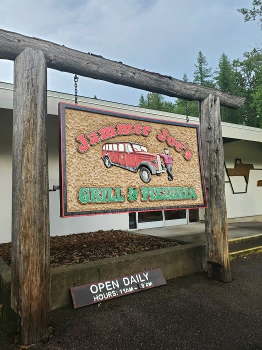 Jammer Joes Grill and Pizza Sign, Lake McDonald Lodge, Glacier National Park